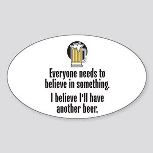Beer Believe - Sticker (Oval)
