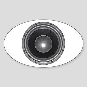 Subwoofer Oval Sticker