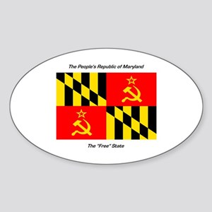 People's Republic of Maryland Oval Sticker
