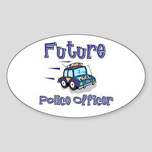 Future Policeman Oval Sticker