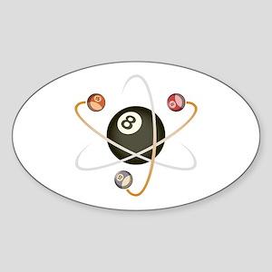 Billiard Atom Oval Sticker