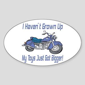 Motorcycle Toys Oval Sticker
