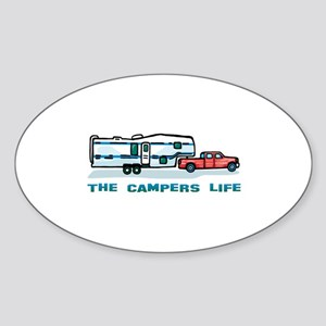 The campers life Oval Sticker