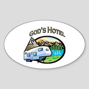 God's Hotel Oval Sticker