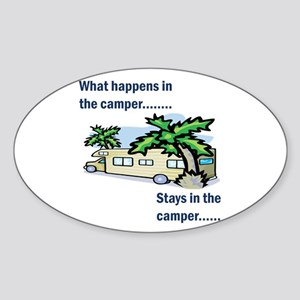 Stays in the camper Oval Sticker