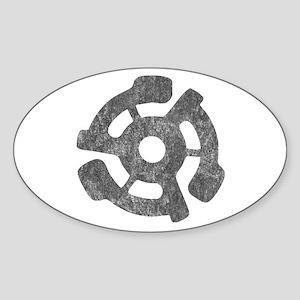 Vintage 45 RPM Oval Sticker