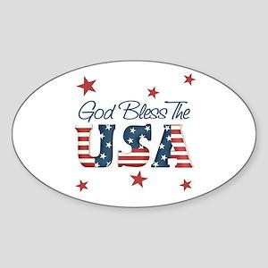 God Bless The U.S.A. Oval Sticker