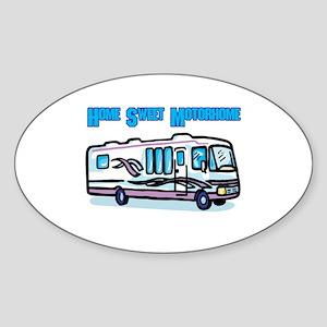 Home Sweet Motorhome Oval Sticker
