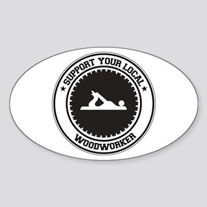 Support Woodworker Oval Sticker