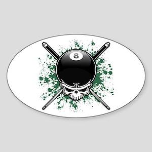 Pool Pirate II splat Oval Sticker