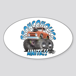 BroncoHolics Unite!!! - Early Oval Sticker