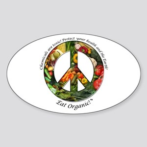 Sticker Peace Organic Vegetables (Oval)