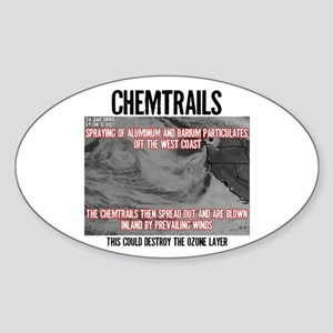 Chemtrails Oval Sticker