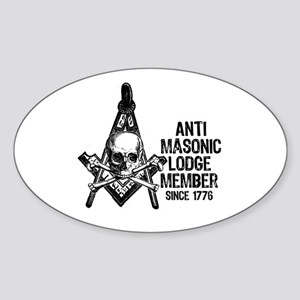 Anti-Masonic Oval Sticker