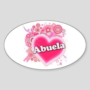 Abuela Heart Art Sticker (Oval)