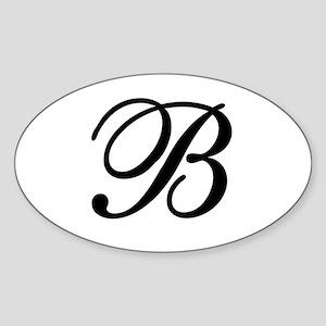 INITIAL B MONOGRAM Sticker (Oval)