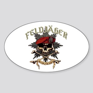 Deutsch Feldjager Mit Sterne Sticker (oval)