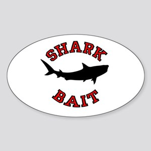 Shark Bait Oval Sticker
