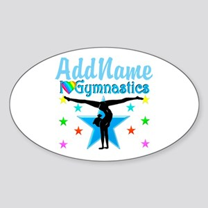GYMNAST POWER Sticker (Oval)