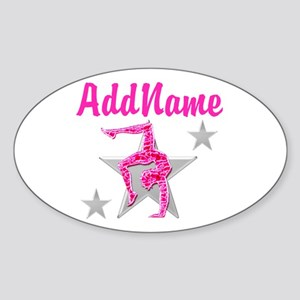 GORGEOUS GYMNAST Sticker (Oval)