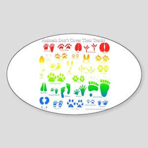Colorful Rainbow Oval Sticker