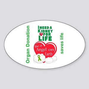 Kidney For Life Sticker (Oval)