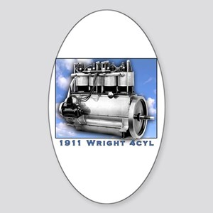 Wright Brothers Engine Oval Sticker