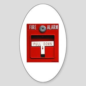 FIRE ALARM Oval Sticker