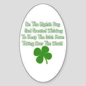 Irish Whiskey Sticker (Oval)