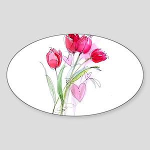 Tulip2 Oval Sticker