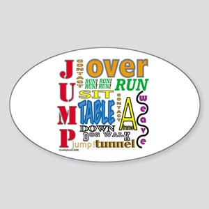 Agility Commands Oval Sticker
