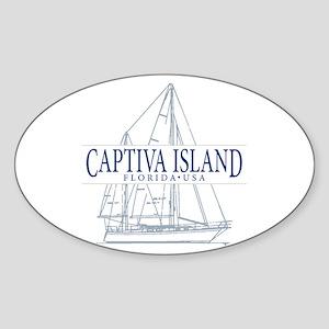 Captiva Island - Sticker (Oval)