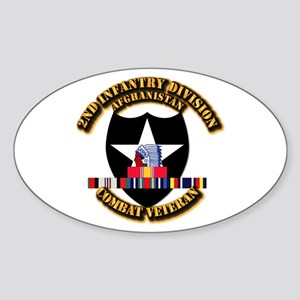 Army - 2nd ID w Afghan Svc Sticker (Oval)