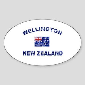 Wellington New Zealand Designs Sticker (Oval)