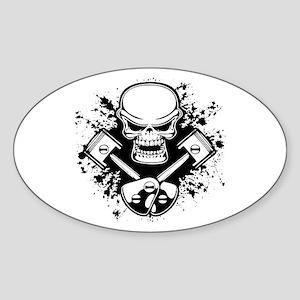 Piston Pistoff -splat Oval Sticker