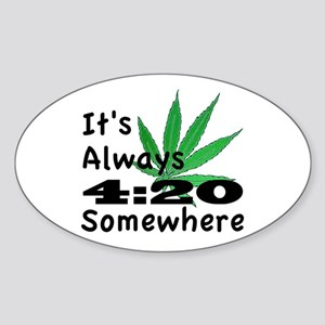 420 Sticker (Oval)
