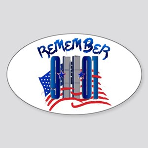 Remember 9/11 - Twin Towers Sticker (Oval)