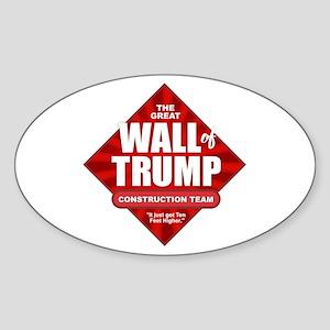 Wall of Trump Sticker