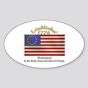 Established 1776 Oval Sticker
