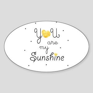 You are my sunshine - gold Sticker