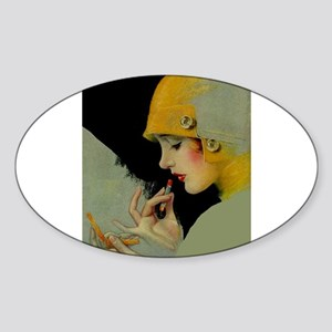 Art Deco Roaring 20s Flapper With Lipstick Sticker