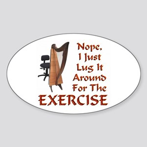 Harp for the Exercise Oval Sticker