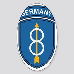 Army-8th-Infantry-Div-Germany-Bonni Sticker (Oval)