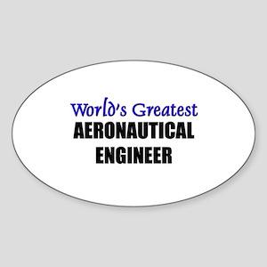 Worlds Greatest AERONAUTICAL ENGINEER Sticker (Ova