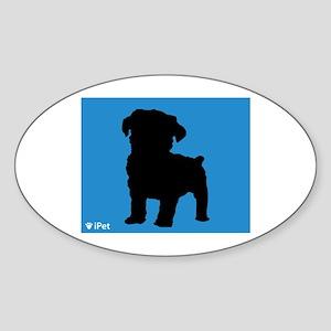 Schnoodle iPet Oval Sticker