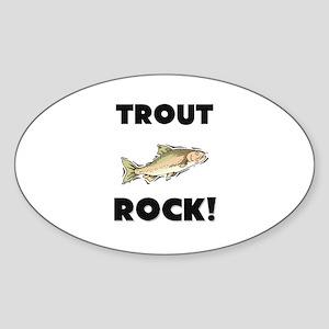 Trout Rock! Oval Sticker