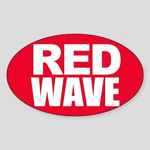 Red Wave Sticker