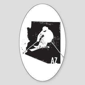 Ski Arizona Sticker (Oval)