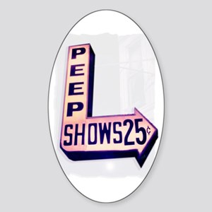 Peep Shows 25cents Oval Sticker