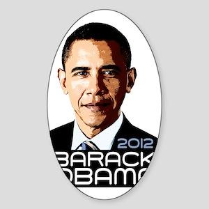 2012 Barack Obama Portrait Sticker (Oval)